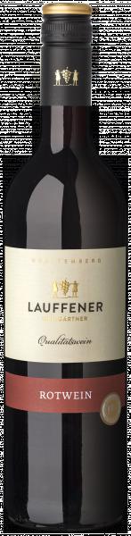 ROTWEIN halbtrocken Qualitätswein 0,75 L - Lauffener Weingärtner