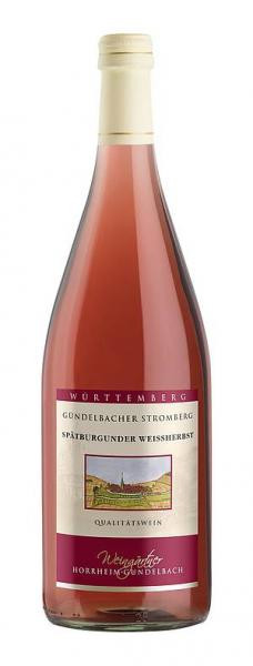 2019 Spätburgunder Weissherbst feinherb 1,0 L Gündelbacher Stromberg - Weingärtner Horrheim-Gündelba