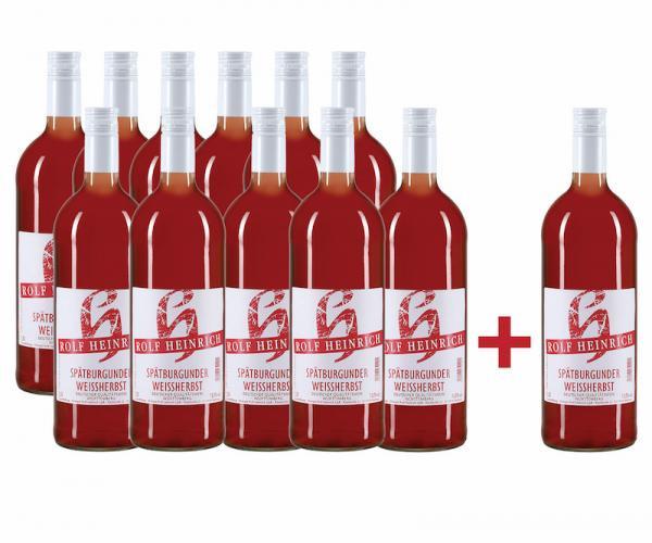 11 + 1 AKTION Spätburgunder Weissherbst Literpaket - Weingut Rolf Heinrich