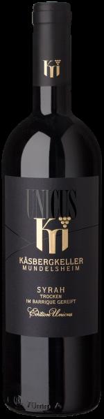 2018 Syrah trocken 0,75 L UNICUS - Käsbergkeller Mundelsheim