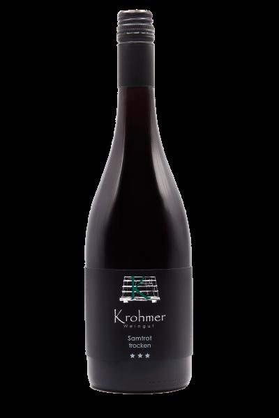 2014 Samtrot *** trocken im Holzfass gereift 0,75 l - Weingut Krohmer