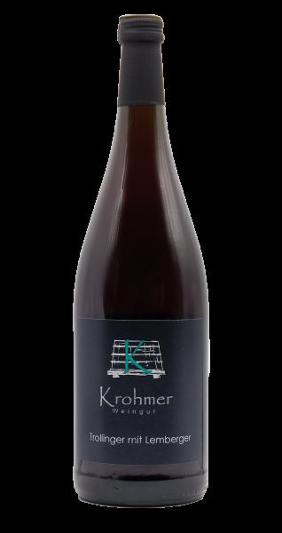 Trollinger mit Lemberger halbtrocken 1,0 L - Familie Krohmer