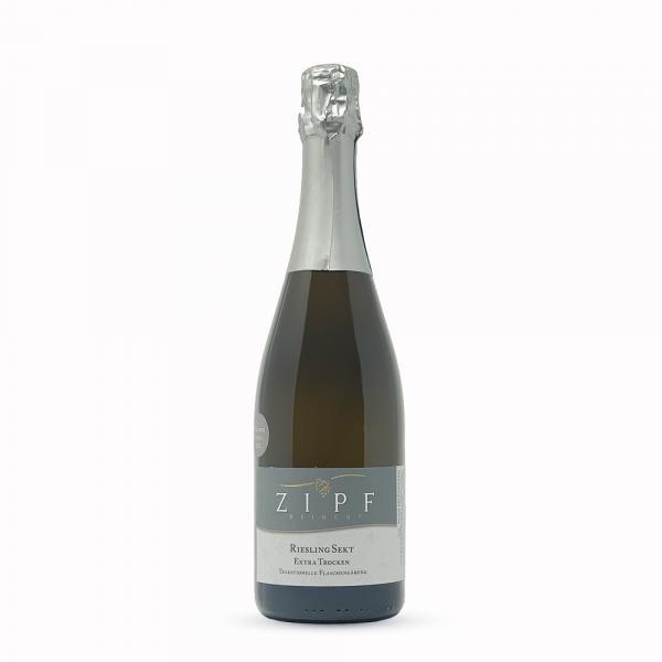 2015 Riesling Sekt extra trocken 0,75 L traditionelle Flaschengärung - Weingut Zipf