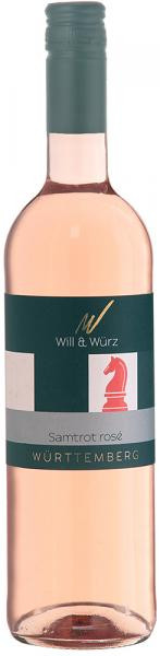 2017 Samtrot Rosé EQUES 0,75 L – Weingut Will und Würz