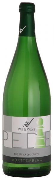 2016 Riesling trocken PEDES 1,0 L – Weingut Will und Würz