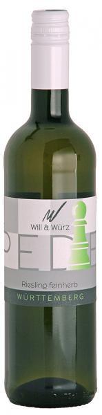 2018 Riesling feinherb 0,75 L PEDES – Weingut Will und Würz