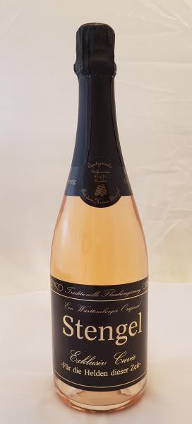 Heldensekt Cuvée Rosé Trocken 0,75 L traditionelle Flaschengärung - Sekt -und Weinmanufaktur Stengel