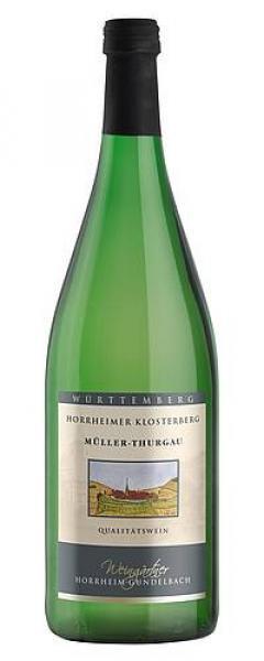 2019 Müller-Thurgau halbtrocken 1,0 L Horrheimer Klosterberg - Weingärtner Horrheim-Gündelbach