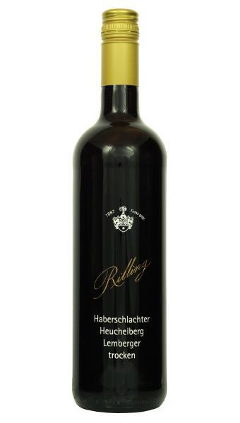 2015 Lemberger Kabinett trocken 0,75 L Haberschlachter Heuchelberg - Ludwig Rilling