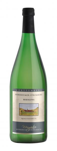2019 Riesling feinherb 1,0 L Horrheimer Klosterberg - Weingärtner Horrheim-Gündelbach
