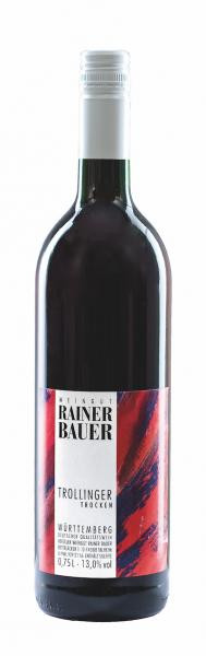 2019 Trollinger trocken 0,75 L - Weingut Rainer Bauer