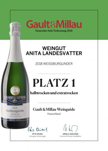 2018 Weißburgunder Sekt trocken 0,75 L - Weingut Anita Landesvatter