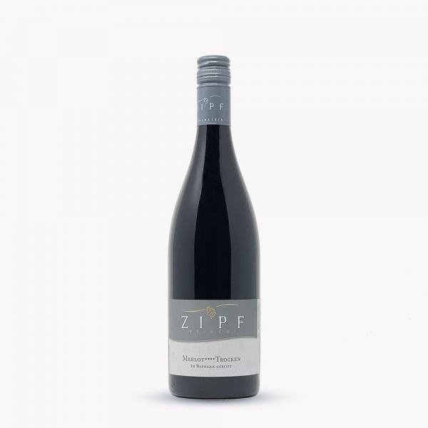 2018 Merlot trocken**** 0,75 L im Barrique - Weingut Zipf