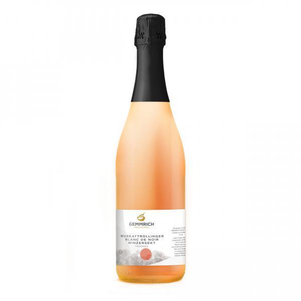 2015 Muskattrollinger Blanc de Noir Sekt trocken 0,75 L Winzersekt - Weingut & Edelbrennerei Gemmric