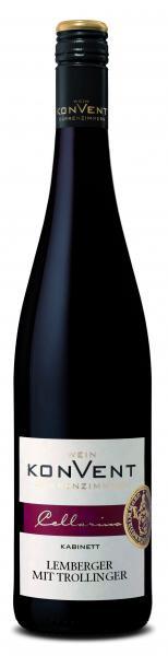 2020 Lemberger mit Trollinger Kabinett 0,75 L CELLARIUS - Weinkonvent Dürrenzimmern