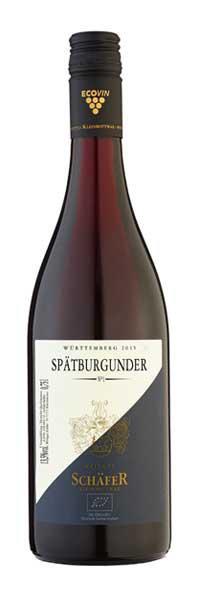 2015 Spätburgunder trocken - No.1 - im Barrique gereift 0,75 l - Weingut Schäfer Kleinbottwar