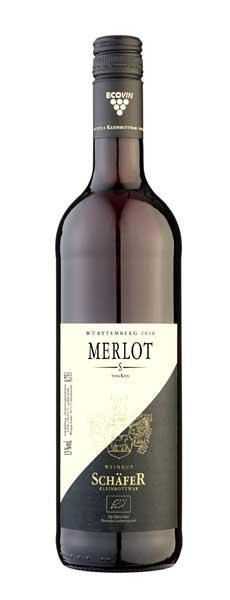 2017 Merlot S trocken BIO 0,75 L Barrique - Weingut Schäfer
