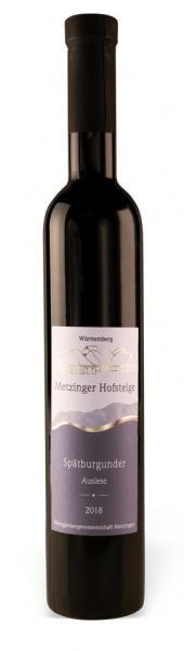 2018 Spätburgunder Auslese süss 0,5 L - Weingärtnergenossenschaft Metzingen