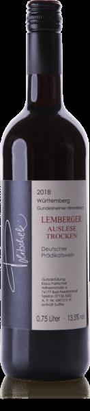 2018 Lemberger Auslese trocken 0,75 L Gundelsheimer Himmelreich - Weingut Politschek