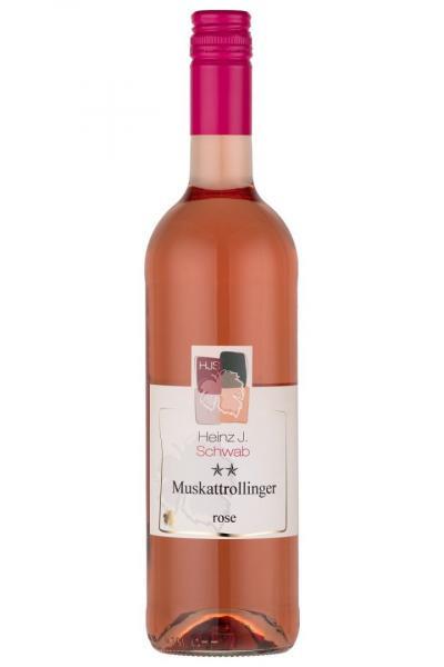 Muskattrollinger Rosé ** lieblich 0,75 L - Weingut Heinz J. Schwab