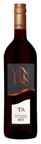 2019 Vinian TA 0,75 L Trollinger mit Acolon Rotwein - Bottwartaler Winzer