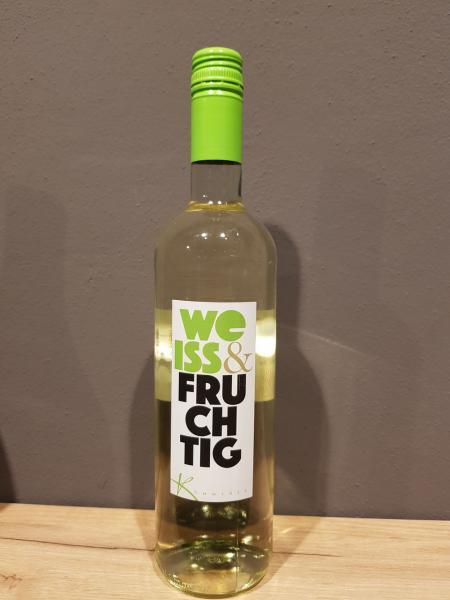 2018 weiss & fruchtig Weisswein Cuvée lieblich 0,75 l – Privatkellerei Kümmerle