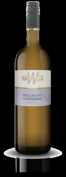 2020 Riesling mit Chardonnay 0,75 L halbtrocken - Weinkellerei Wangler