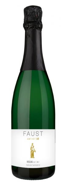 Riesling Sekt brut FAUST 0,75 L traditionelle Flaschengärung - Amthof 12