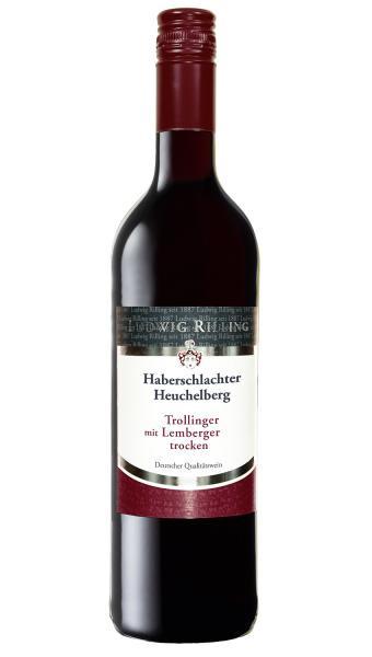 2019 Lemberger mit Trollinger trocken 0,75 L Haberschlachter Heuchelberg - Ludwig Rilling
