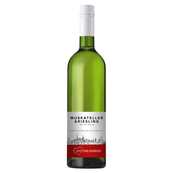 2020 Riesling und Muskateller - EDITION HAMBURG 0,75 L Meine Perle - Weingut Fried Baumgärtner