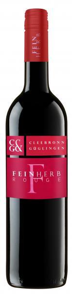 2019 ROUGE feinherb 0,75 L Rotwein Cuvée - Weingärtner Cleebronn-Güglingen