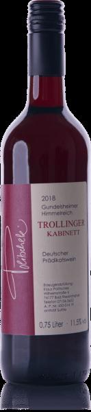 2018 Trollinger halbtrocken Kabinett 0,75 L - Weingut Politschek