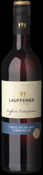 2018 Trollinger mit Lemberger halbtrocken 0,75 L Lauffener Katzenbeißer - Lauffener Weingärtner
