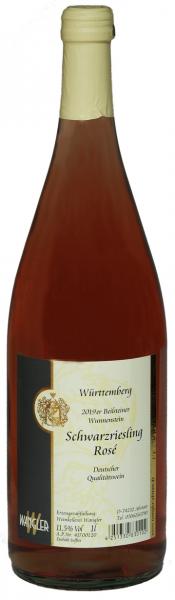 2019 Schwarzriesling Rosé feinherb 1,0 L Beilsteiner Wunnenstein - Weinkellerei Wangler