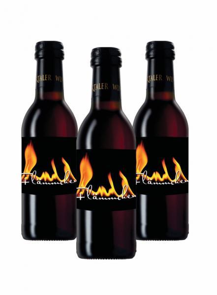 3 x Flämmchen Glühwein ROT 0,25 L - Bottwartaler Winzer