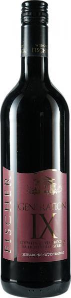 GENERATION IX Rotwein Cuvée trocken 0,75 L Eichenfass - Weingut Fischer