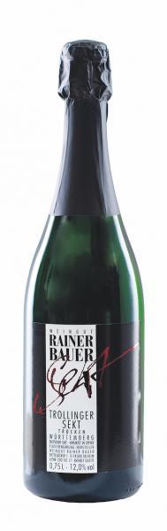 2018 Trollinger Sekt trocken 0,75 L -Weingut Rainer Bauer