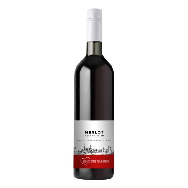 2019 Merlot trocken EDITION HAMBURG 0,75 L Mein Herzblatt - Weingut FRIED Baumgärtner