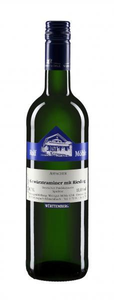 2018 Gewürztraminer mit Riesling Spätlese lieblich 0,75 l - Weingut Möhle