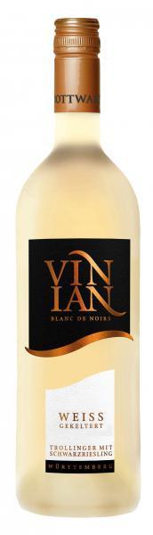 2020 VINIAN Weiss gekeltert 0,75 L Blanc de Noirs Trollinger mit Schwarzriesling - Bottwartaler Winz