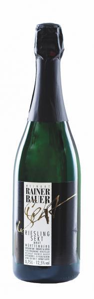 2018 Riesling Sekt brut 0,75 L -Weingut Rainer Bauer