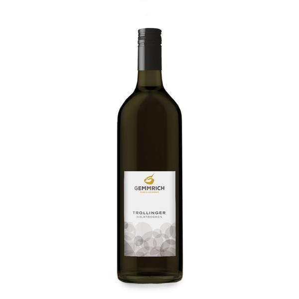2017 Trollinger 1,0 L halbtrocken - Weingut & Edelbrennerei Gemmrich