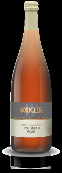 2020 Trollinger Rosé feinherb 1,0 L Abstatter Schozachtal - Weinkellerei Wangler